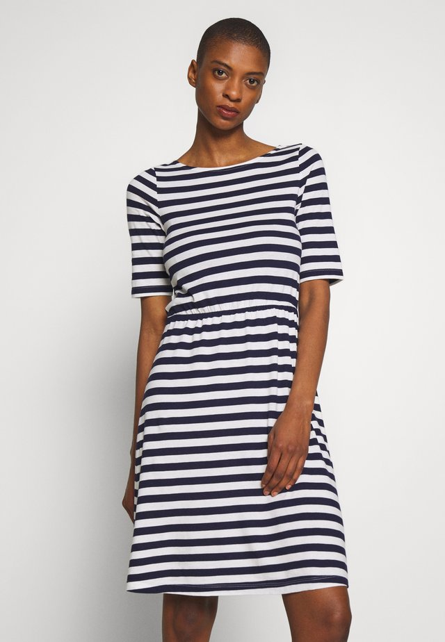 BASIC  - Trikoomekko - maritime blue/cloudancer stripe