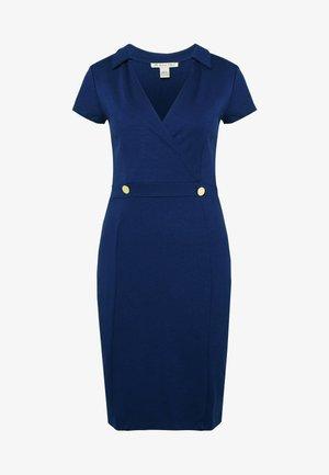 BASIC - Pouzdrové šaty - maritime blue