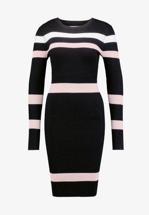 Robe fourreau - black/pink/white