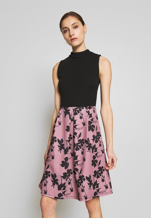SLEEVELESS SKIRT - Vestito elegante - rose/black