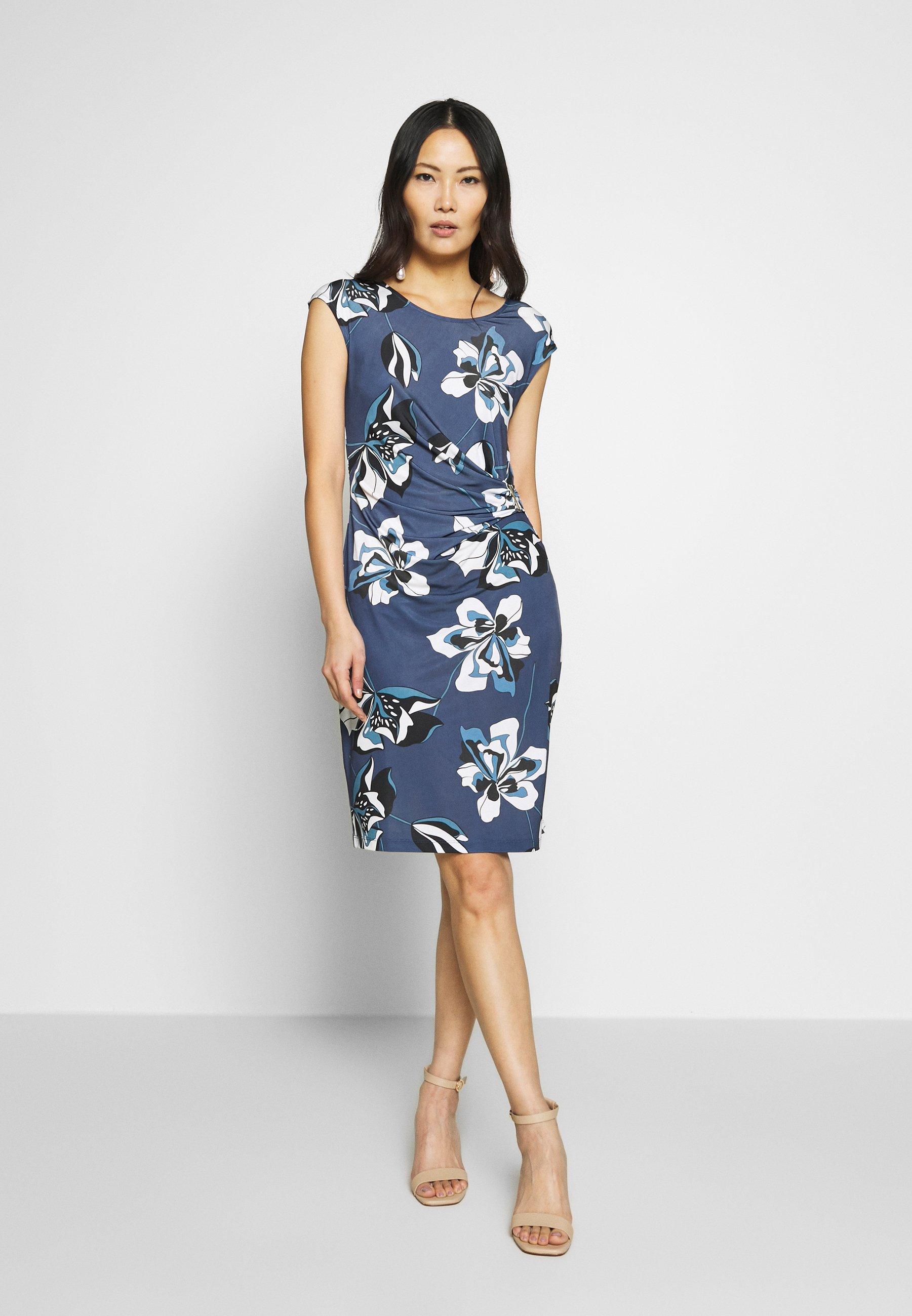 Anna Field Sukienka z dżerseju - white/blue