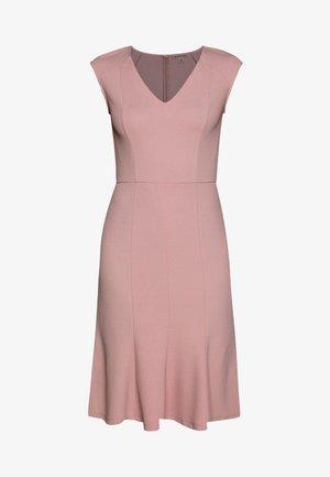 BASIC - V NECK MINI DRESS - Žerzejové šaty - pale mauve