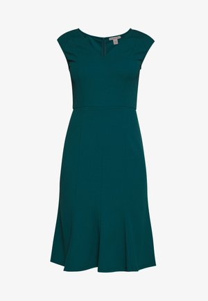 BASIC - V NECK MINI DRESS - Vestido ligero - turquoise