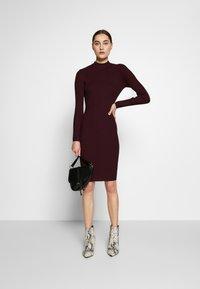 Anna Field - BASIC - Strikket kjole - winetasting - 1