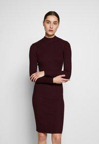 Anna Field - BASIC - Strikket kjole - winetasting - 0