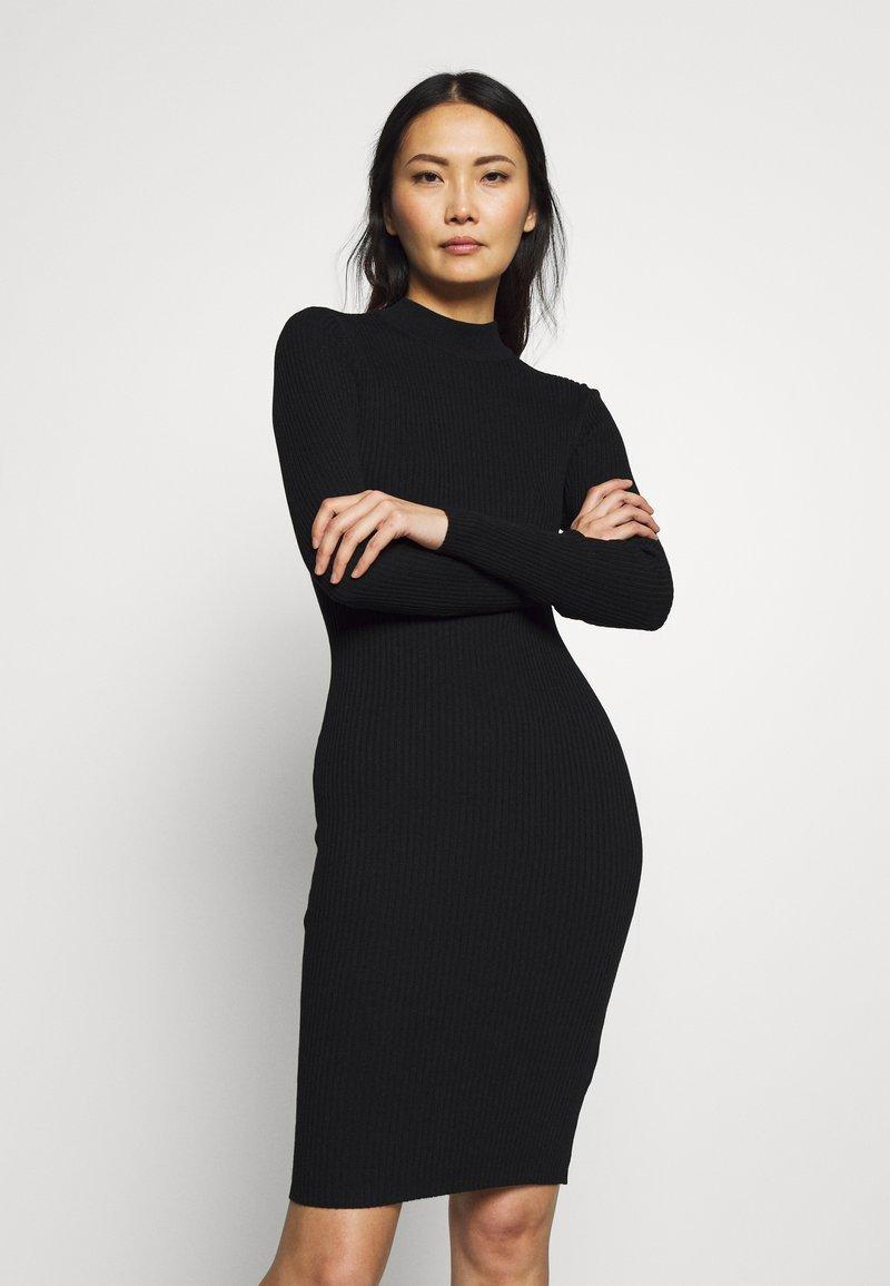 Anna Field - BASIC - Gebreide jurk - black