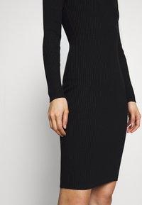 Anna Field - BASIC - Gebreide jurk - black - 5