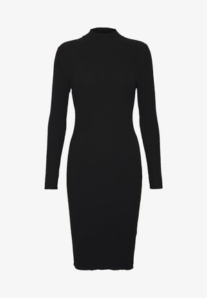 BASIC - Gebreide jurk - black