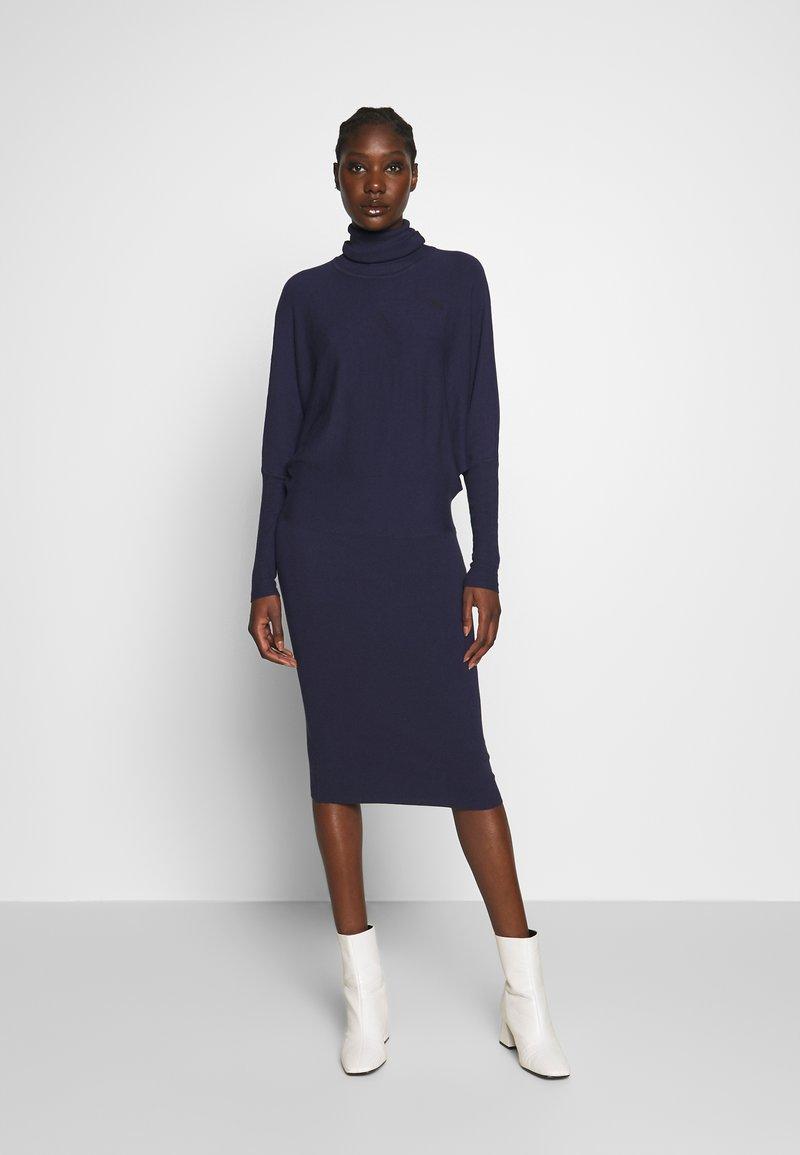 Anna Field - BASIC STRICKKLEID - Jumper dress - dark blue