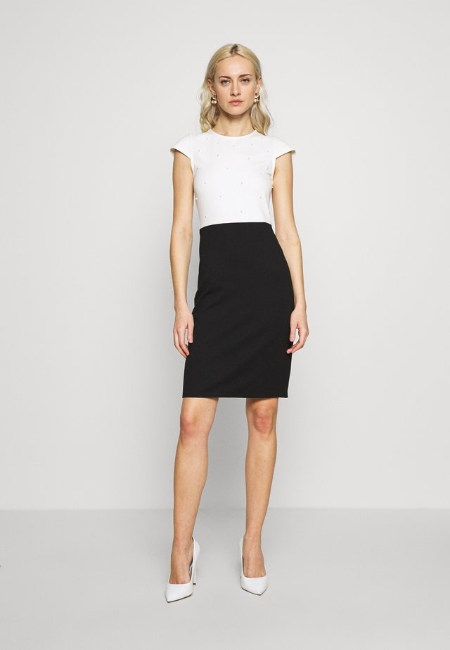 Cocktail dress / Party dress - white/black