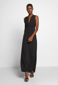 Anna Field - BASIC - FRONT KNOT MAXI DRESS - Maxi dress - black - 1
