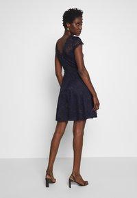 Anna Field - ALL OVER LACE DRESS FIT AND FLARE - Koktejlové šaty/ šaty na párty - evening blue - 2