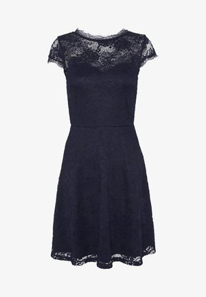 ALL OVER LACE DRESS FIT AND FLARE - Cocktailjurk - evening blue