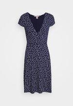 Jersey dress - maritime blue/white