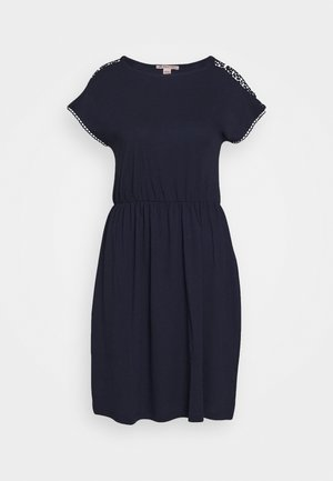 BASIC JERSEYKLEID - Jersey dress - maritime blue