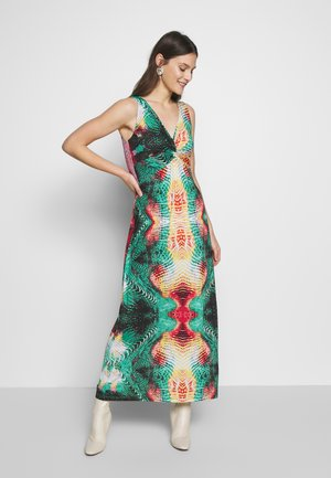Robe longue - orange / green