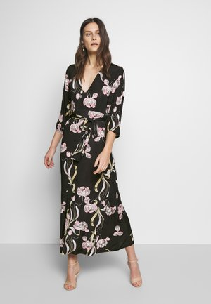 Maxikleid - black / rose