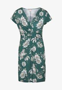 Anna Field - FRONT CROSS - Žerzejové šaty - green/white - 3