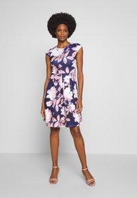 Anna Field - Jersey dress - dark blue/rose - 1
