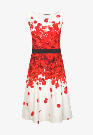 Cocktail dress / Party dress - white/red