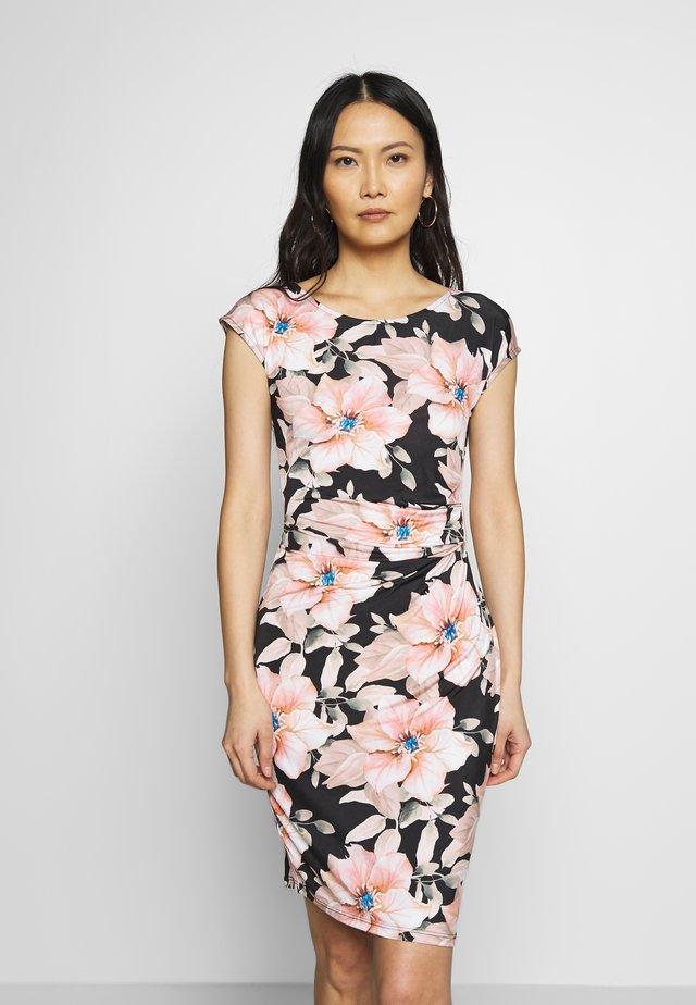 WITH BUCKLE - Pouzdrové šaty - black rose