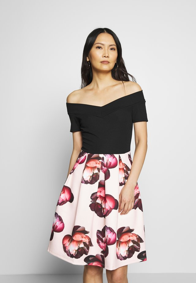 Cocktail dress / Party dress - black/rose