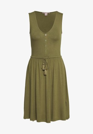 BASIC JERSEYKLEID - Jersey dress - olive night