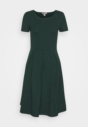 BASIC JERSEYKLEID - Jersey dress - green