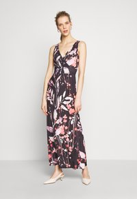 Anna Field - MAXI DRESS WITH PRINT - Robe longue - black/rose - 0
