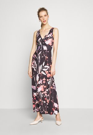 MAXI DRESS WITH PRINT - Maxi-jurk - black/rose
