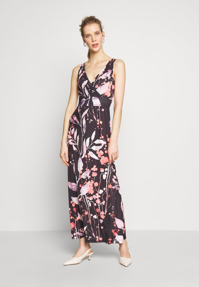 MAXI DRESS WITH PRINT - Maxi dress - black/rose