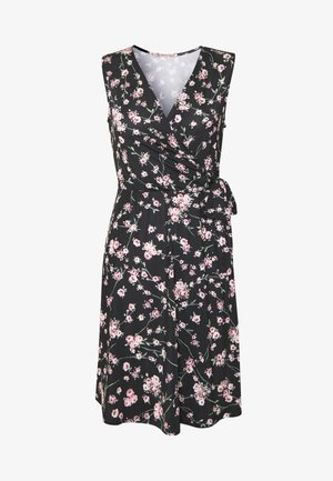 Jersey dress - rose/black