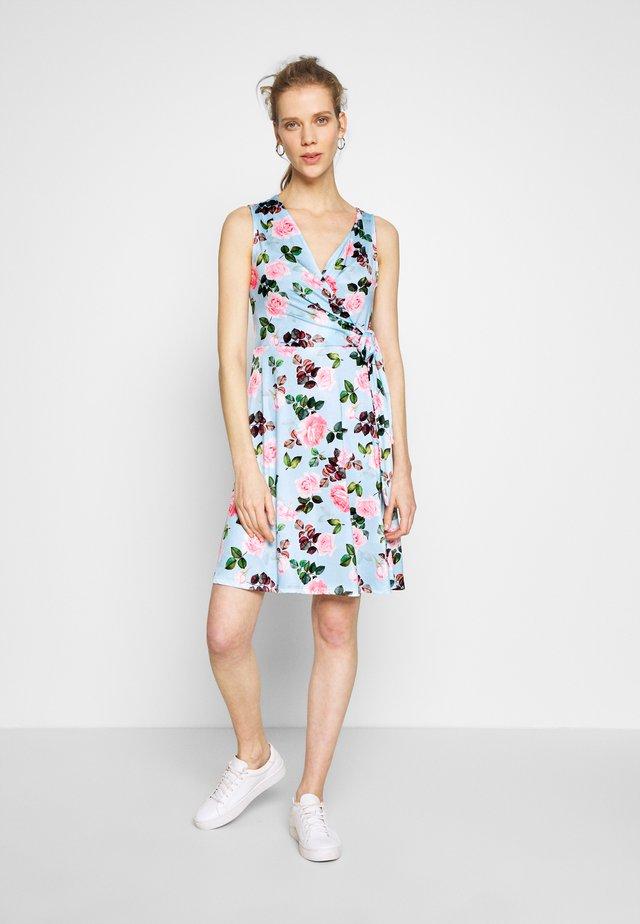 Jersey dress - light blue/rose