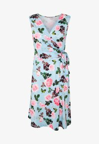 Anna Field - Jerseyjurk - light blue/rose - 4