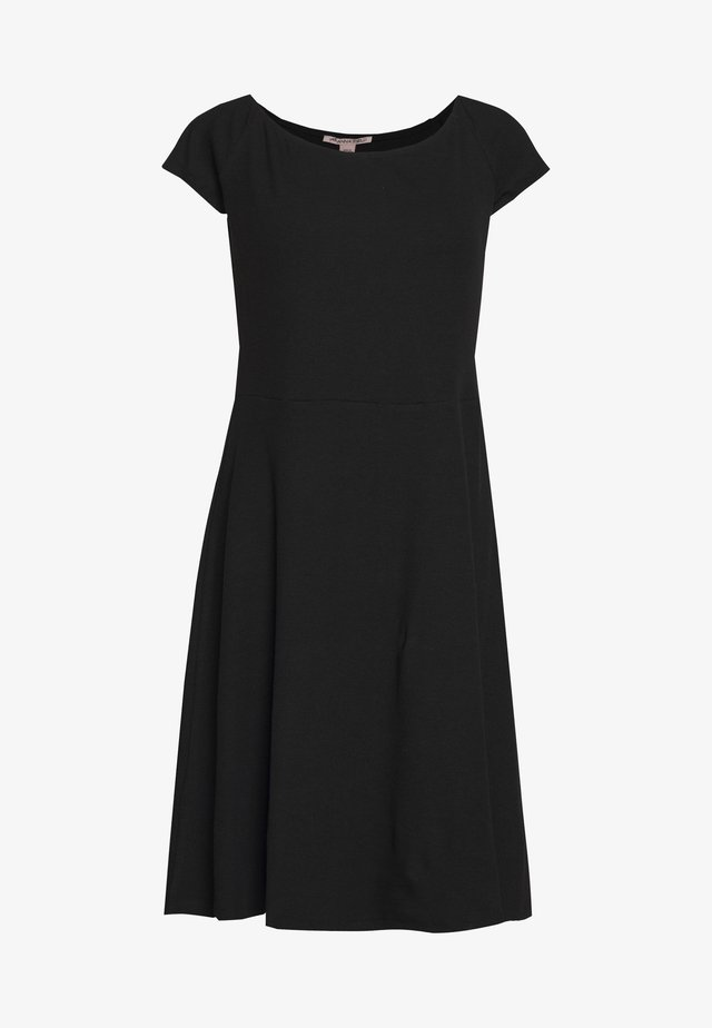 BASIC JERSEYKLEID - Jersey dress - black