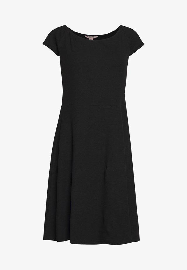 BASIC JERSEYKLEID - Jerseykleid - black