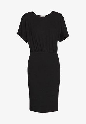 BASIC JERSEYKLEID - Jersey dress - black