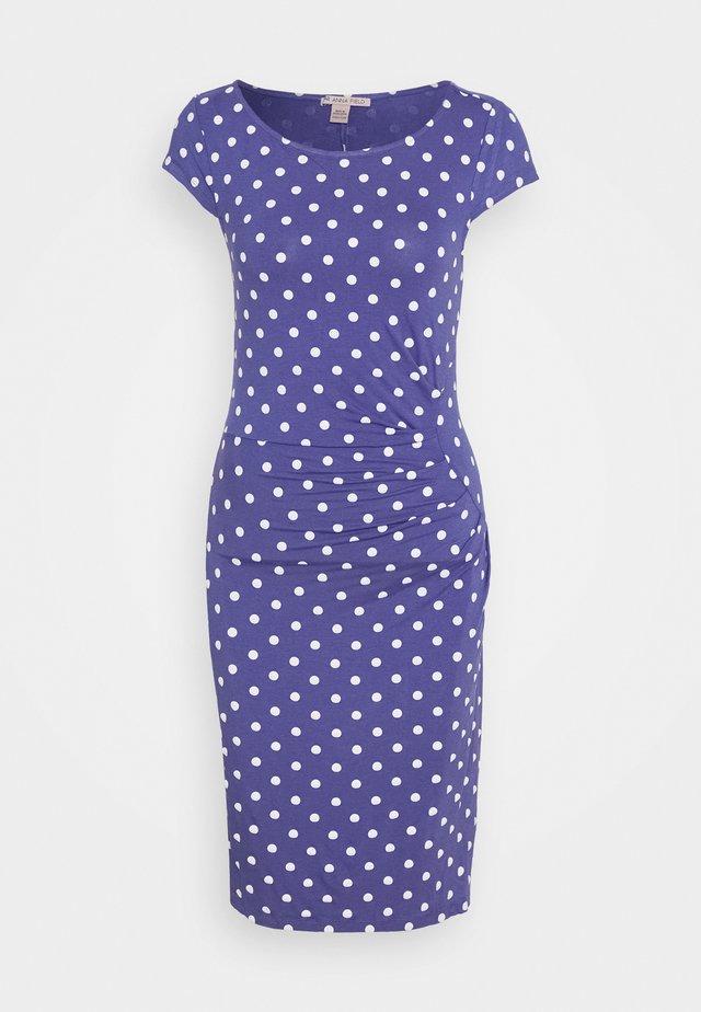Vestido de tubo - white/blue