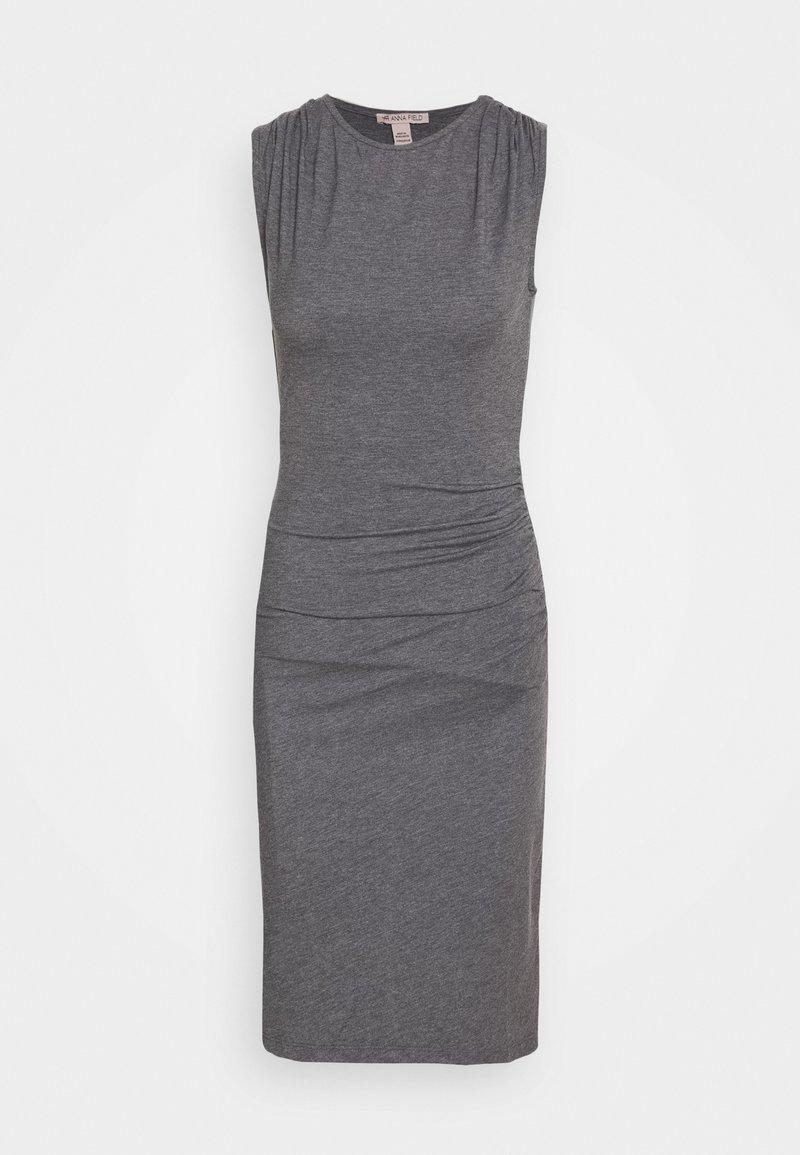 Anna Field - BASIC JERSEYKLEID - Shift dress - grey marl