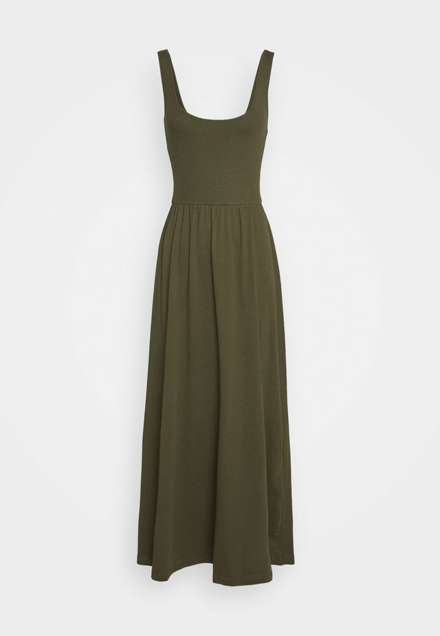 BASIC - JERSEY MAXI DRESS - Jersey dress - olive night