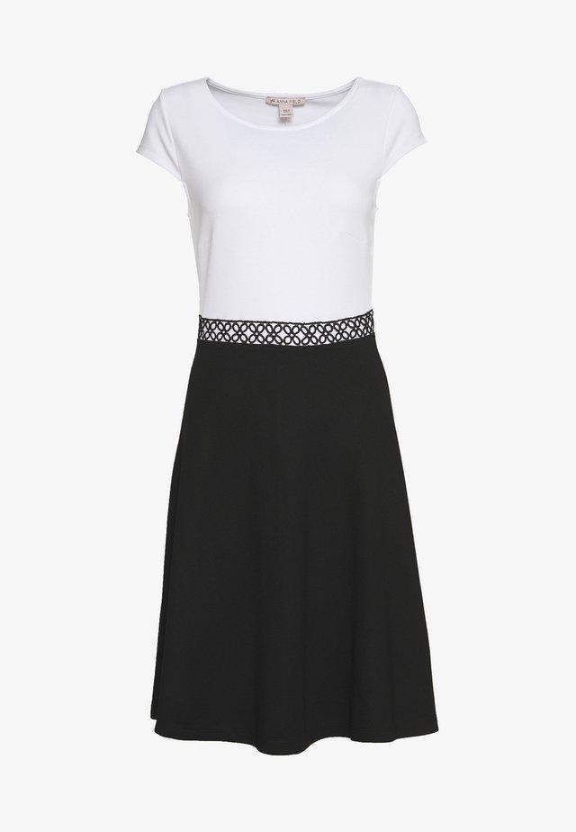 Jersey dress - black/white