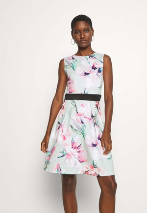 Jersey dress - light green/pink