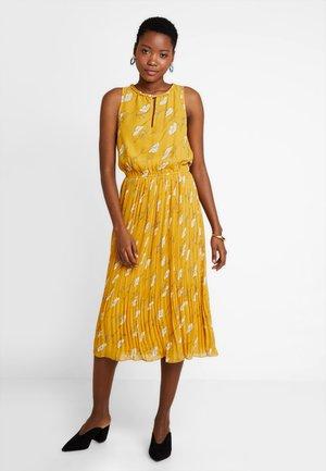 Korte jurk - yellow/white
