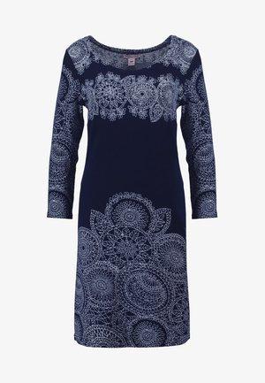 Day dress -  white/dark blue