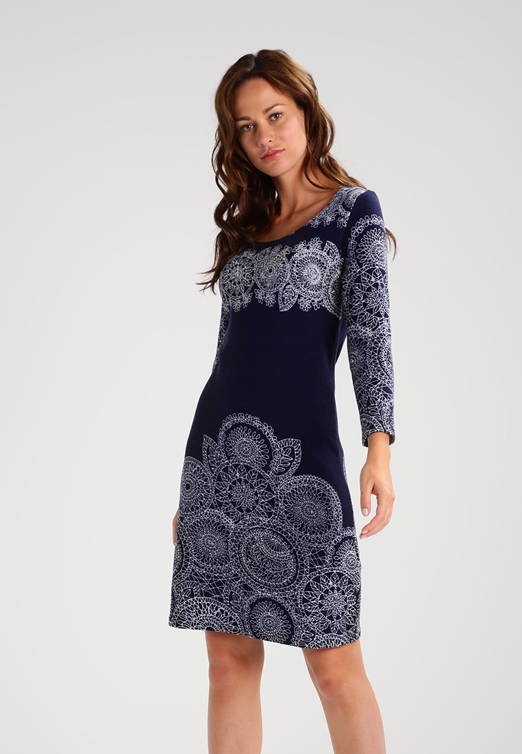Anna Field - Jumper dress -  white/dark blue