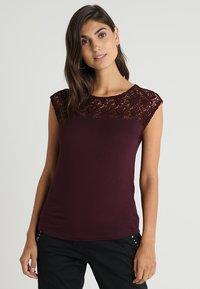 Anna Field - Basic T-shirt - bordeaux - 0