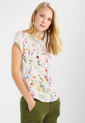 Print T-shirt - white/multicoloured