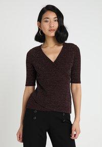 Anna Field - T-shirt print - burgundy - 0