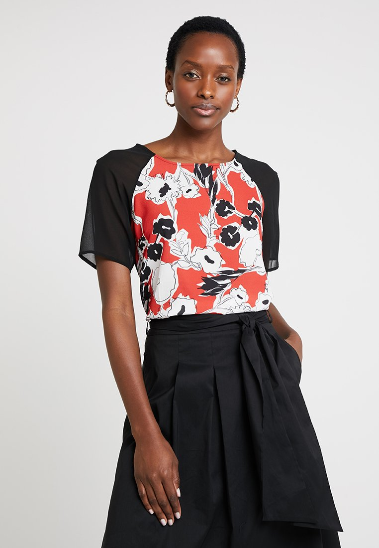 Anna Field - FLORAL FRONT - Bluse - black