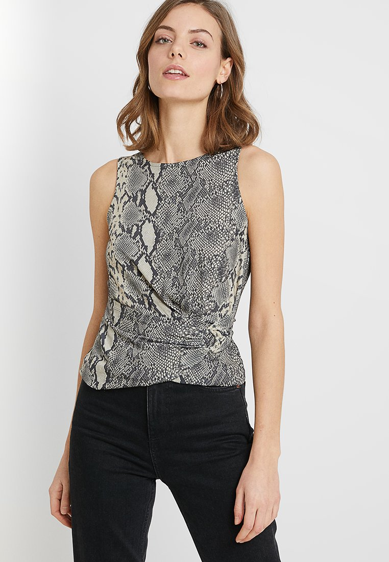 Anna Field - SNAKE ANIMAL PRINTED SLEEVELESS WRAP TOP WITH METAL DETAIL - Top - multi-coloured